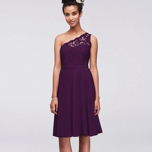 David's bridal- Short one shoulder dress